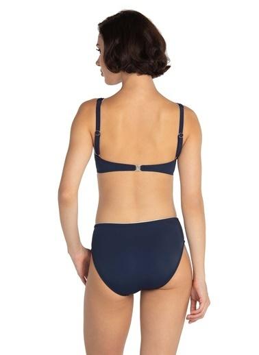 Dagi Balenli Kaplı Bikini Takım Lacivert